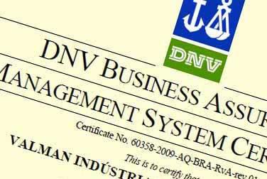 Certificado ISO 9000 - Valman